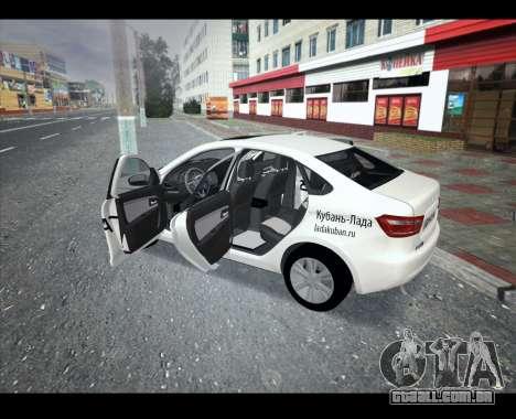 Lada Vesta VESTATEST para GTA San Andreas esquerda vista