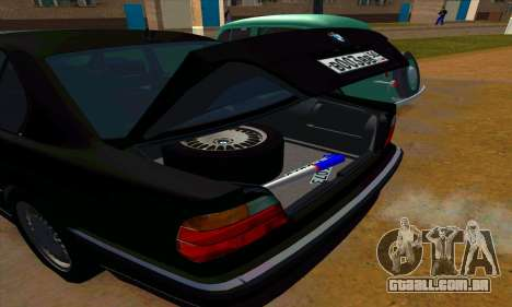 BMW 740i E38 para GTA San Andreas vista superior