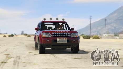 Land Rover Discovery 4 para GTA 5