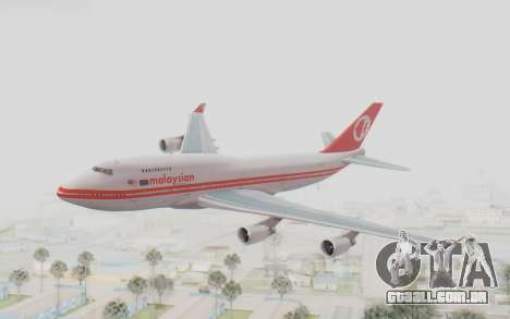 Boeing 747-200 Malaysia Airlines para GTA San Andreas