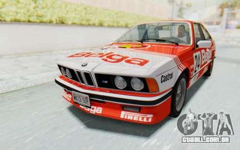 BMW M635 CSi (E24) 1984 HQLM PJ2 para GTA San Andreas vista inferior