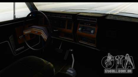 Ford Bronco 1980 para GTA San Andreas vista interior