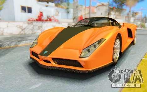 GTA 5 Grotti Cheetah IVF para GTA San Andreas traseira esquerda vista