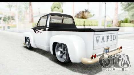 GTA 5 Vapid Slamvan Custom IVF para o motor de GTA San Andreas