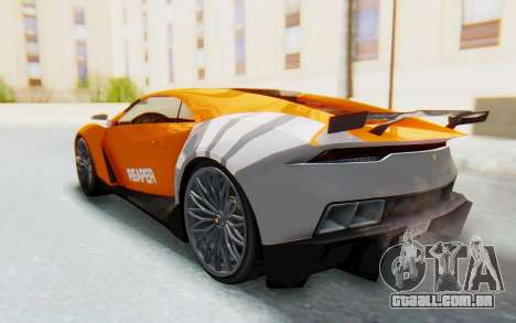 GTA 5 Pegassi Reaper IVF para GTA San Andreas vista inferior