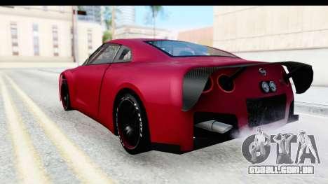 Nissan GT-R R35 Top Speed para GTA San Andreas esquerda vista