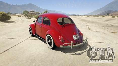 GTA 5 1963 Volkswagen Beetle 1.0.1 traseira vista lateral esquerda