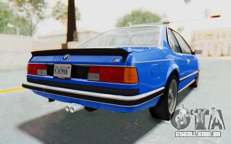 BMW M635 CSi (E24) 1984 HQLM PJ1 para GTA San Andreas esquerda vista