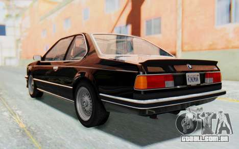 BMW M635 CSi (E24) 1984 HQLM PJ3 para GTA San Andreas esquerda vista