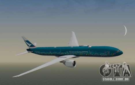 Boeing 777-300ER Cathay Pacific Airways v2 para GTA San Andreas