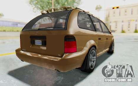GTA 5 Vapid Minivan para GTA San Andreas esquerda vista