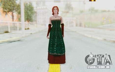The Witcher 3 - Triss Merigold Dress para GTA San Andreas segunda tela