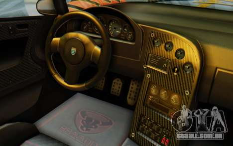 GTA 5 Grotti Cheetah IVF para vista lateral GTA San Andreas