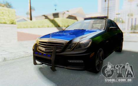 Mercedes-Benz E63 German Police Blue-Yellow para GTA San Andreas traseira esquerda vista