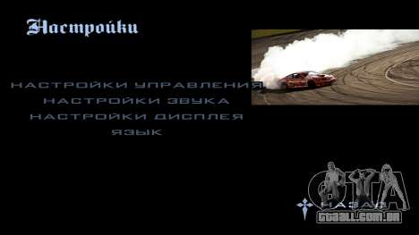 New menu para GTA San Andreas por diante tela