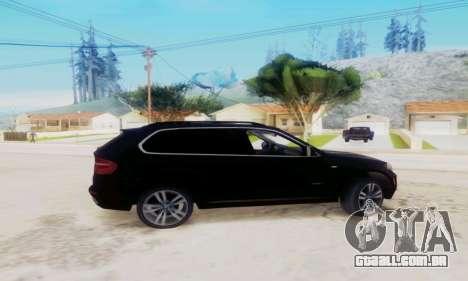 BMW X5 para GTA San Andreas esquerda vista