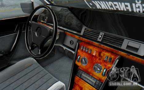 Mercedes-Benz W124 Stance Works para GTA San Andreas vista interior