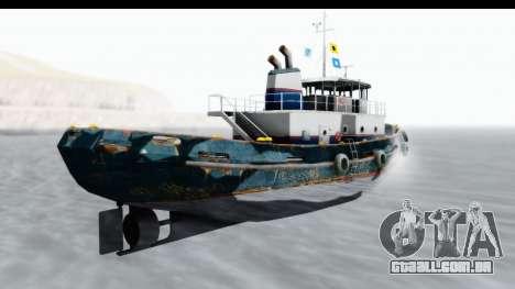 GTA 5 Buckingham Tug Boat v1 para GTA San Andreas esquerda vista