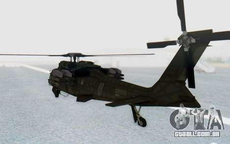 MGSV Phantom Pain UTH-66 Blackfoot para GTA San Andreas vista direita