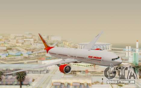 Boeing 777-300ER India Air para GTA San Andreas traseira esquerda vista