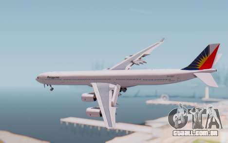 Airbus A340-600 Philippine Airlines para GTA San Andreas esquerda vista