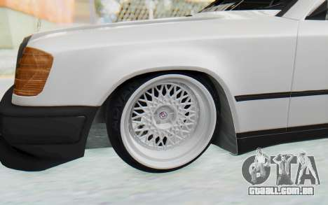 Mercedes-Benz W124 Stance Works para GTA San Andreas vista traseira