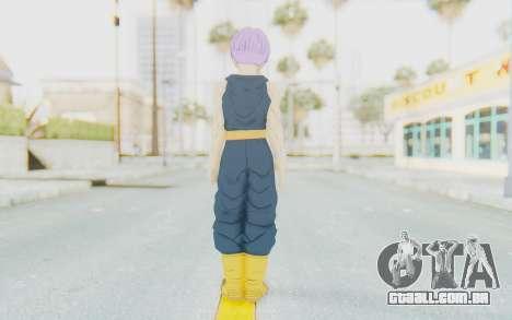 Dragon Ball Xenoverse Future Trunks Shirt para GTA San Andreas terceira tela