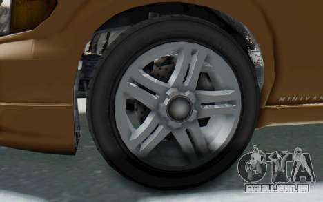 GTA 5 Vapid Minivan para GTA San Andreas vista traseira