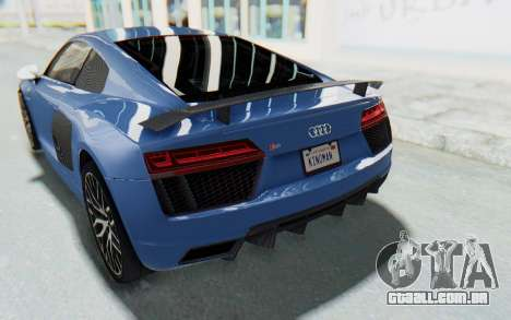 Audi R8 2017 para GTA San Andreas vista inferior