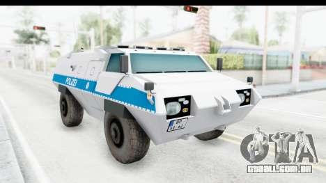 Hermelin TM170 Polizei para GTA San Andreas vista direita