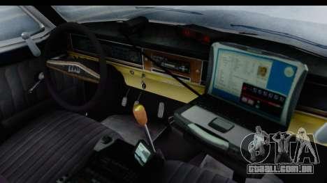 ГАЗ 24 de Polícia rodoviária Patrol para GTA San Andreas vista interior