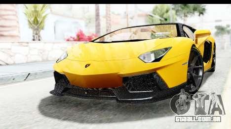 Lamborghini Aventador LP700-4 LB Walk para GTA San Andreas traseira esquerda vista