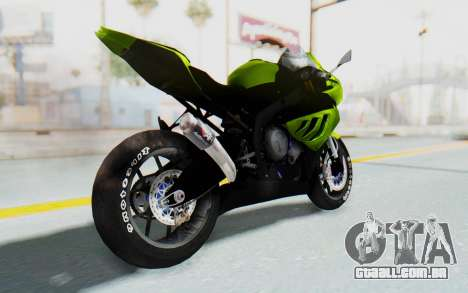 BMW S1000RR HP4 Modification para GTA San Andreas esquerda vista