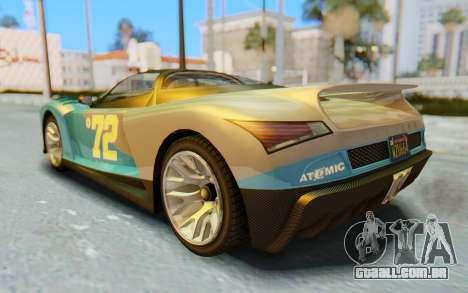 GTA 5 Grotti Cheetah IVF para GTA San Andreas interior