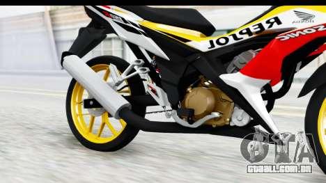Honda 150R Sonic X IDFR para GTA San Andreas vista interior