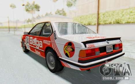 BMW M635 CSi (E24) 1984 HQLM PJ2 para GTA San Andreas interior