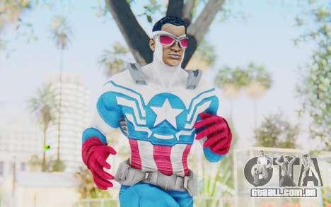 Marvel Heroes - Capitan America Sam Wilson para GTA San Andreas