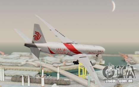 Boeing 777-300ER China Air para GTA San Andreas esquerda vista