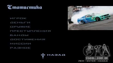 New menu para GTA San Andreas segunda tela
