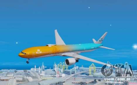 Boeing 777-300ER KLM - Royal Dutch Airlines v4 para GTA San Andreas