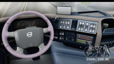 Volvo FMX Euro 5 v2.0 para GTA San Andreas vista interior