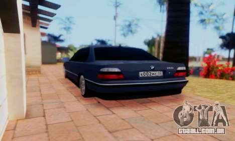 BMW 750 para GTA San Andreas esquerda vista