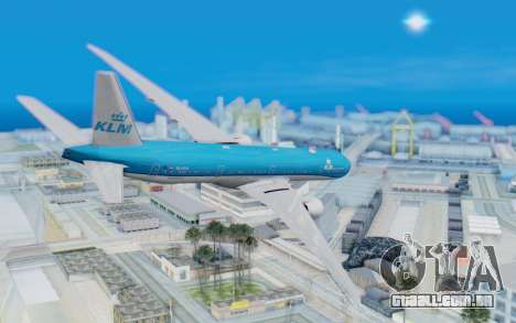 Boeing 777-300ER KLM - Royal Dutch Airlines v5 para GTA San Andreas esquerda vista