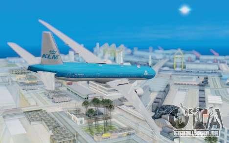 Boeing 777-300ER KLM - Royal Dutch Airlines v5 para GTA San Andreas esquerda vista