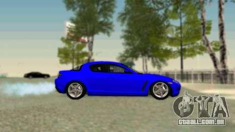 Mazda RX-8 para GTA San Andreas vista direita