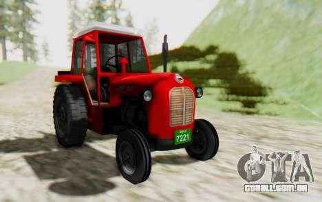 IMT 539 Deluxe para GTA San Andreas traseira esquerda vista