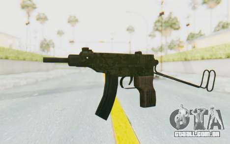 VZ-61 Skorpion Unfold Stock Green Flecktarn Camo para GTA San Andreas