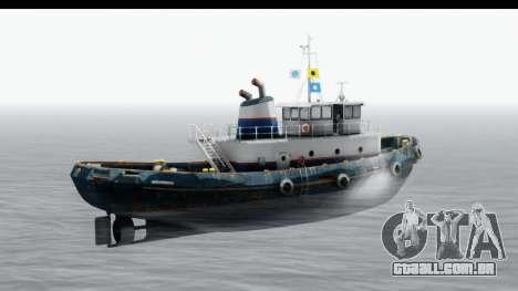 GTA 5 Buckingham Tug Boat v2 para GTA San Andreas traseira esquerda vista