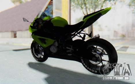 BMW S1000RR HP4 Modification para GTA San Andreas traseira esquerda vista