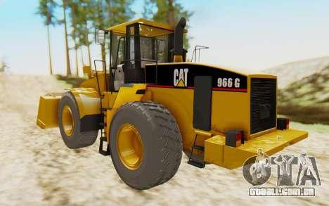 Caterpillar 966 GII para GTA San Andreas esquerda vista
